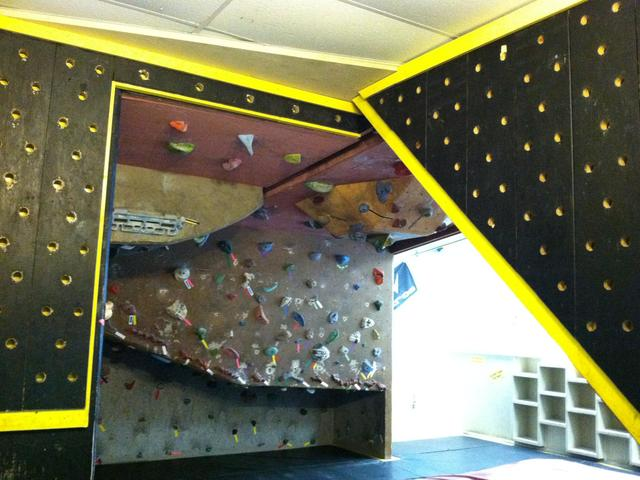 One of our Bouldering rooms with our Peg Board.