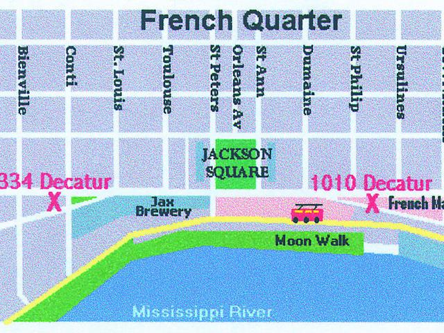 Two locations on either end of the French Quarter for your convenience. Photo