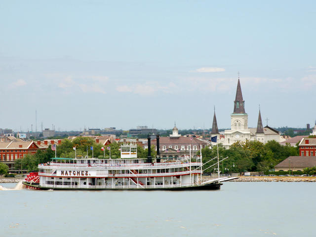 Icons of New Orleans, Steamboat Natchez and St. Louis Cathedral Photo 3