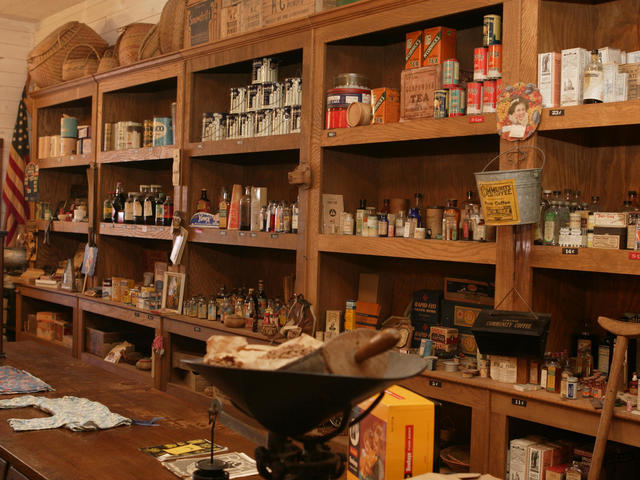 Contents of 1940's Country Store