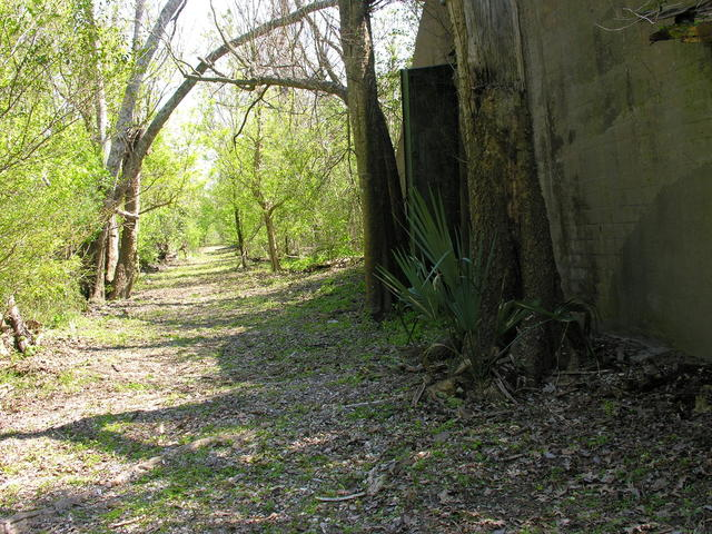 The Naval Ammunition Depot Trail leads to a grouping of World War II Ammunition Magazines.