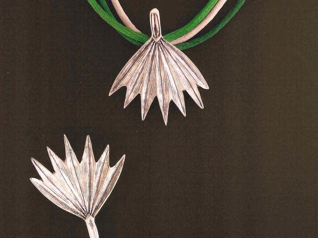 Mignon Faget - Woodlands Trail Palmetto Pendant, Lapel Pin and Earrings