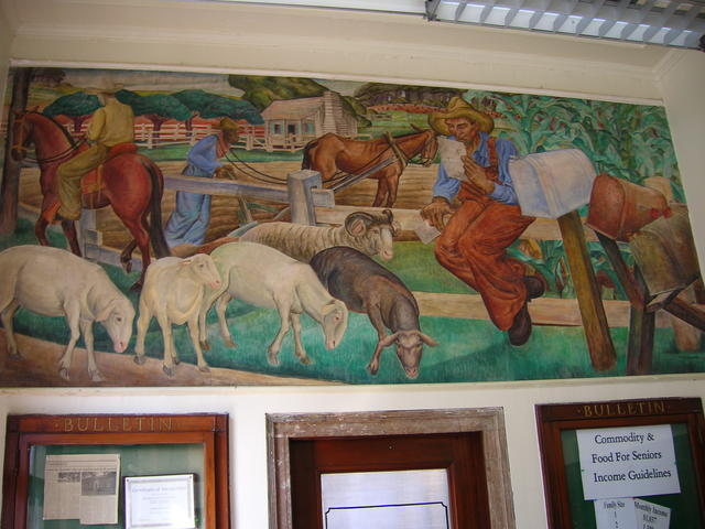 The Old Post Office featuring the W.P.A's Rural Free Delivery Mural