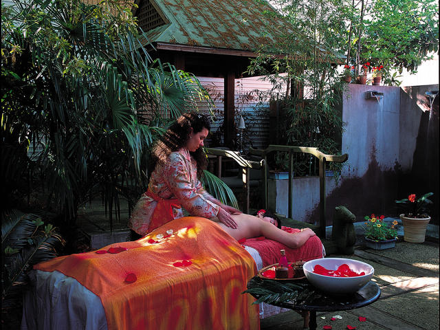 Belladonna Day Spa's Tea Garden, one of two outdoor treatment settings Photo