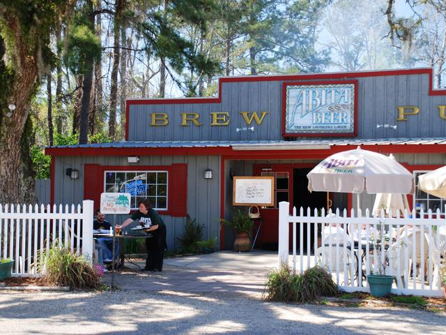 Abita Brew Pub in Abita Springs, a great spot for a beer tasting and a lazy afternoon. Photo