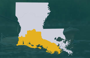 Cajun Country Map Region