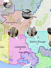 Louisiana Interactive Map